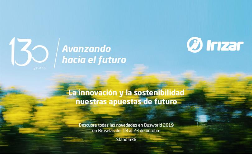 El Grupo Irizar realiza un despliegue sin precedentes de su estrategia de marca, tecnología y sostenibilidad en la Feria Internacional de Autobuses y Autocares Busworld