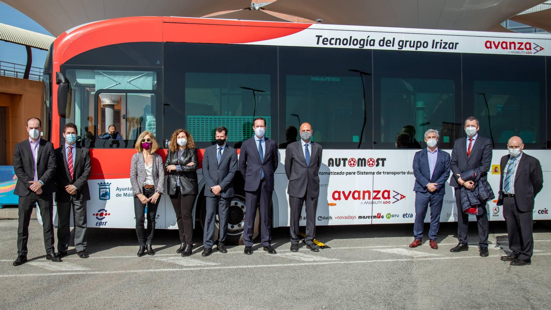 Se estrena el primer autobús autónomo cero emisiones Irizar en Málaga