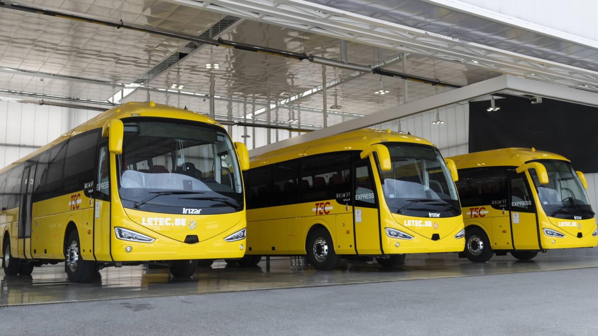 Autocares Irizar para el transporte público de Wallonia en Bélgica